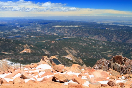Beautiful vistas from the top of Pikes Peak Mountains in Colorado, USA Stock Photo - 12382197