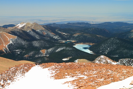 vistas: Beautiful vistas from the top of Pikes Peak Mountains in Colorado, USA