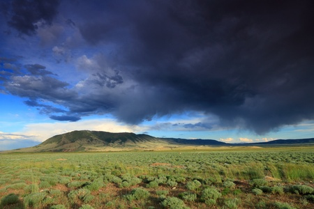 Beautiful clouded sky in the prairie Stock Photo - 12687377