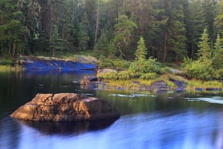 Beautiful calm lake in a remote wilderness of Minnesota, USA Stock Photo - 12687762