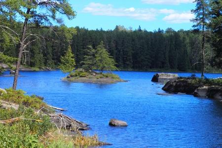 Beautiful serenity of a lake in Minnesota, USA