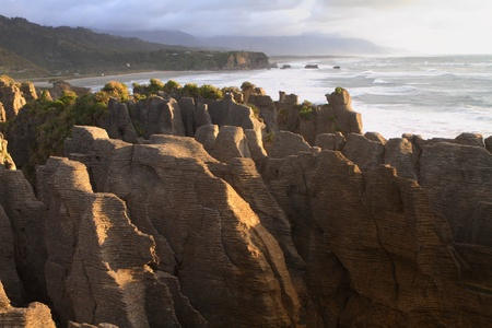 Beautiful limestone cliffs in Paparoa National Park, South Island, New Zealand Stock Photo - 13030632