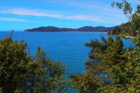 vistas: Beautiful vistas of Abel Tasman National Park, South Island, New Zealand, view from above
