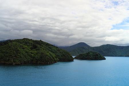 sounds: Beautiful coastline of Marlborough Sounds, New Zealand
