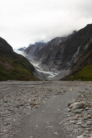 franz josef: The Franz Josef is a glacier located in Westland Tai Poutini National Park on the West Coast of New Zealands South Island Stock Photo