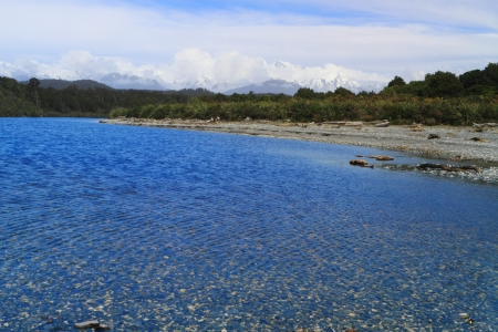 Beautiful lagoon in Westland Tai Poutini National Park, South Island, New Zealand photo