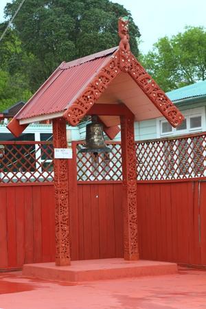 Traditional Maori building in Rotorua, North Island, New Zealand Editorial