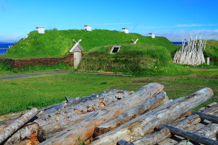 Ancient homes of Viking settlers in L