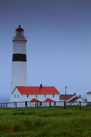 Point Amour lighthouse on the coast of Labrador, Canada photo