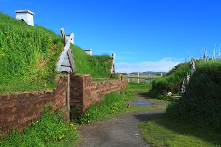 L で入植バイキングの古代の家