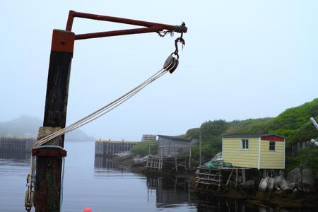 Picturesque fishing village in Nordic landscape photo