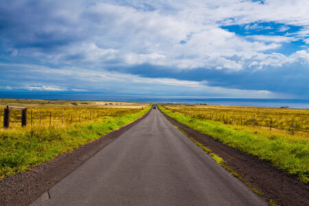 southernmost: Beautiful road leading to the southernmost point of Hawaii and the United States, Hawaii Stock Photo