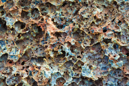 strombolian: Beautiful texture and pattern of cold lava in Hawaii Volcanoes National Park, Big Island, Hawaii Stock Photo