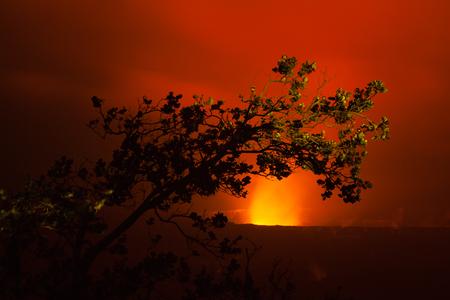 kilauea: Night photos of erupting volcano in Hawaii Volcanoes National Park, Big Island, Hawaii. Night photos, multiple minute exposure.