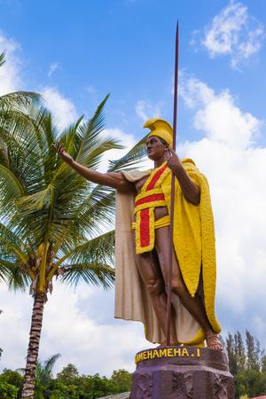 big island: King Kamehameha statue on Big Island, Hawaii