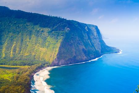 big island: Waipio valley lookout on Big Island, Hawaii