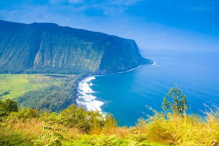 island: Waipio valley lookout on Big Island, Hawaii