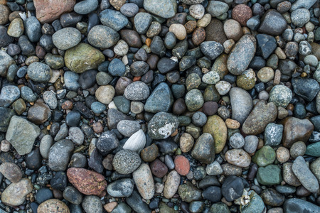 shoreline: Shoreline rocks background. Stock Photo