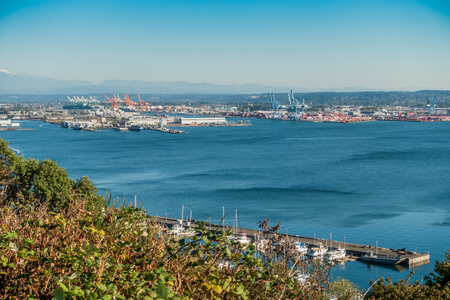 A veiw of the Port of Tacoma.