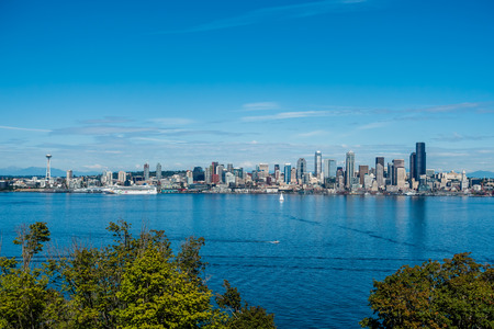 Port of Seattle signs agreement with Norwegian Cruise Lines to continue operations for 15 years. Location - Seattle.  Date - 892015