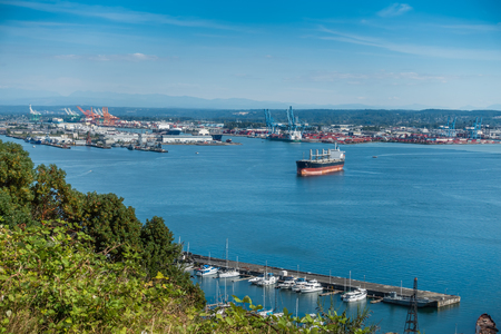 tacoma: A view of the Port of Tacoma in Washington State.