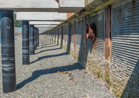 shorelines: A view of a walkway that is under constrtuction at Redondo Beach, Washington.
