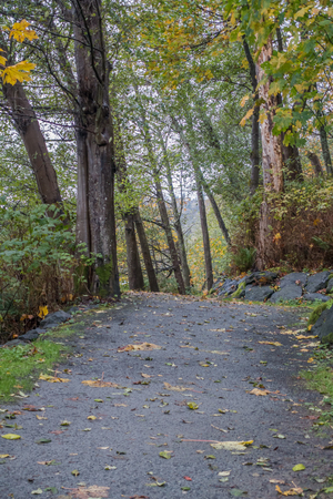 puget: A path goes along the Puget Sound at Seahurst Park in Bruien, Washington.