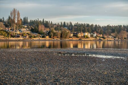 puget: A view of shoreline homes in Normandy Park, Washington.