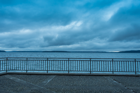 puget: A view of a storm over the Puget Sound. Photo taken from West Seattle.