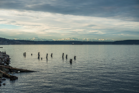 tacoma: A view of the Olympic Mountains from the Ruston area of Tacoma.