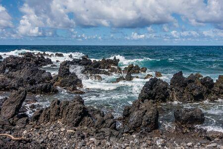 マウイ島、ハワイで Keanae ポイントのビュー。 写真素材