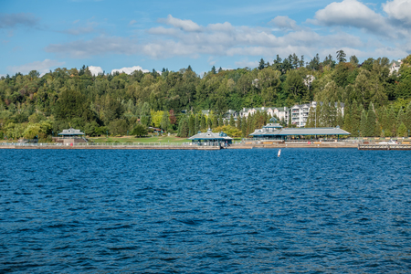 A view of the pavillion at Gene Coulon Park in Renton, Washington.
