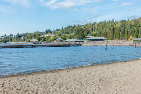 A view of the pavilion at Gene Coulon Park in Renton, Washington.