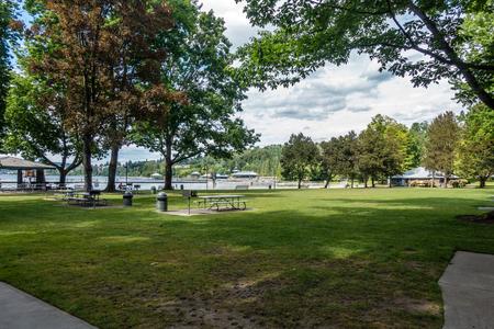 A veiw of Gene Coulon Park in Reonton, Washington.