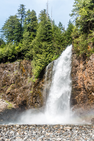 A view of  Franklin Falls in Washington State.