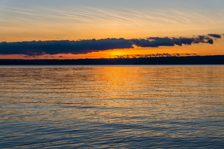 Rich deep colors fill the sky as the sun set over the Puget Sound.