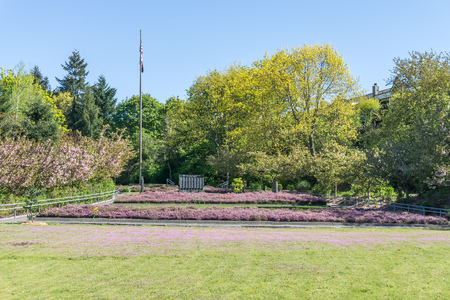 Parco del memoriale di guerra a Tacoma, Washington.