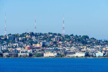 A view of Queen Anne Hill in Seattle, Washington.