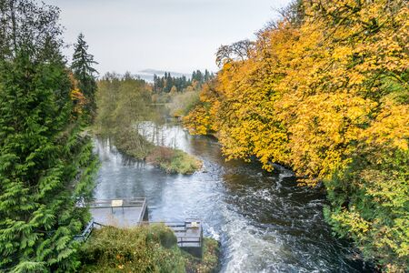 The river below Tumwater Falls in Washington State.