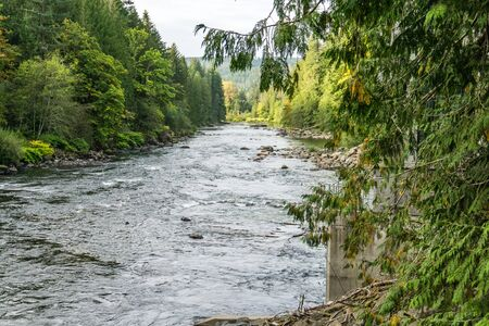 A view of the Snoqualmie River in Washington State.