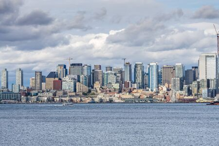 A view of a section of the Seattle skyline.