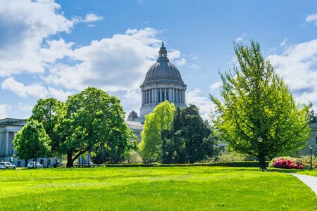 The campus at the Washington State Capitol in Olympia, Washington.