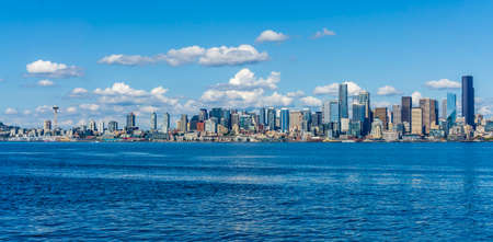 A view of the Seattle skyline in the Pacific Northwest.