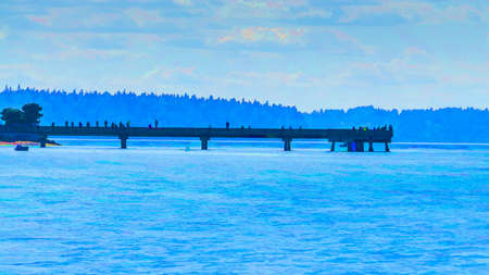An illustration of  the pier in Dash Point, Washington.