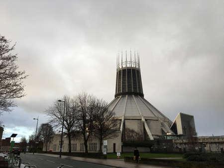 The Catholic Cathedral of Liverpool 版權商用圖片