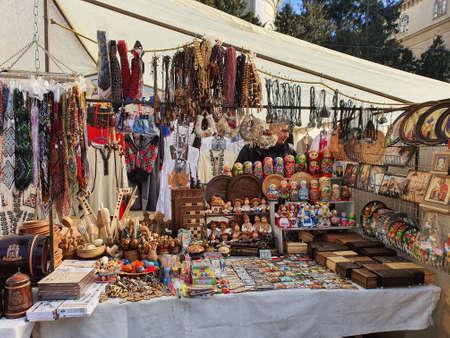 Flea market at Lviv Фото со стока