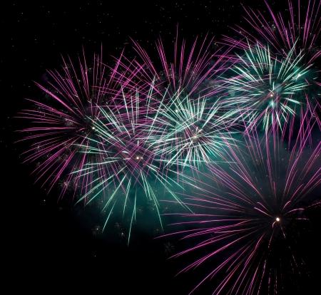 Firework celebration of new year  Stock Photo