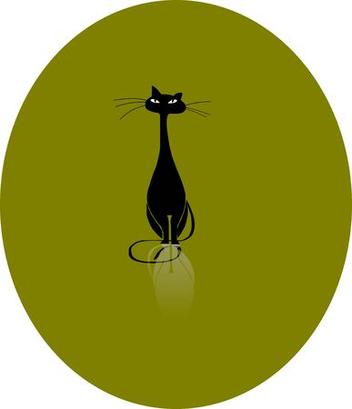 Black cat Stock Vector - 21015205