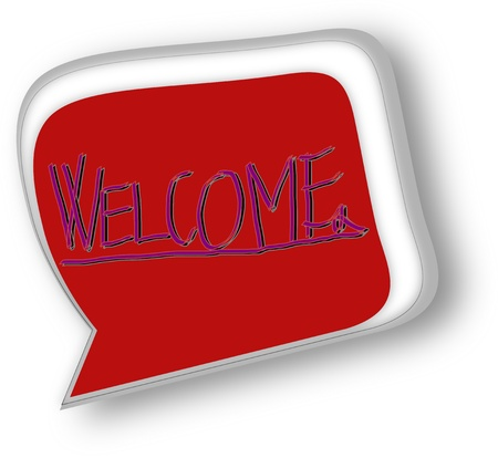 Nice Welcome signs on white background  Vector