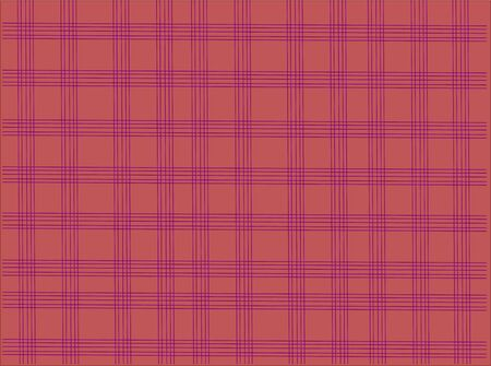 Purple Tablecloth check pattern on ping background  Vector